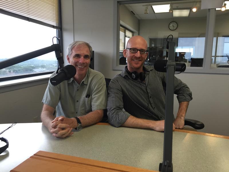 Composer Matt Dunne (left) and director Matt Diekman (right).