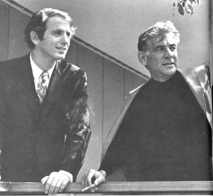 David Amram and Leonard Bernstein, 1967