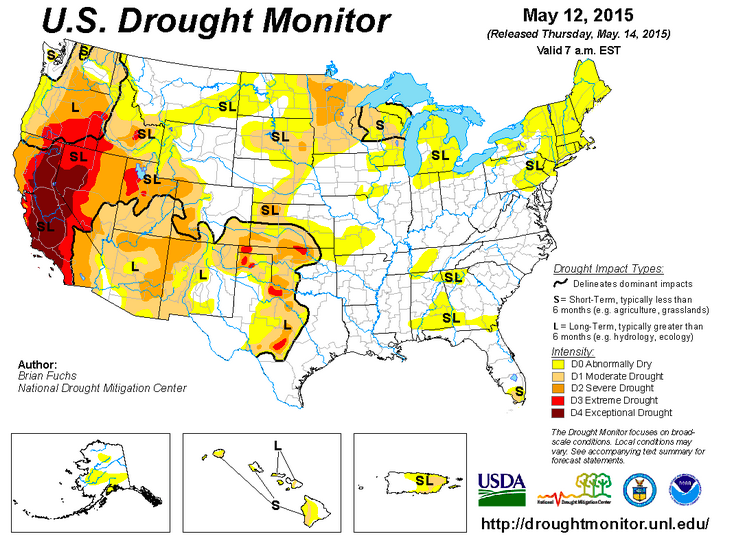 Recent Rains Help Texas Emerge From Harsh Drought Conditions Texas - Drought-map-us