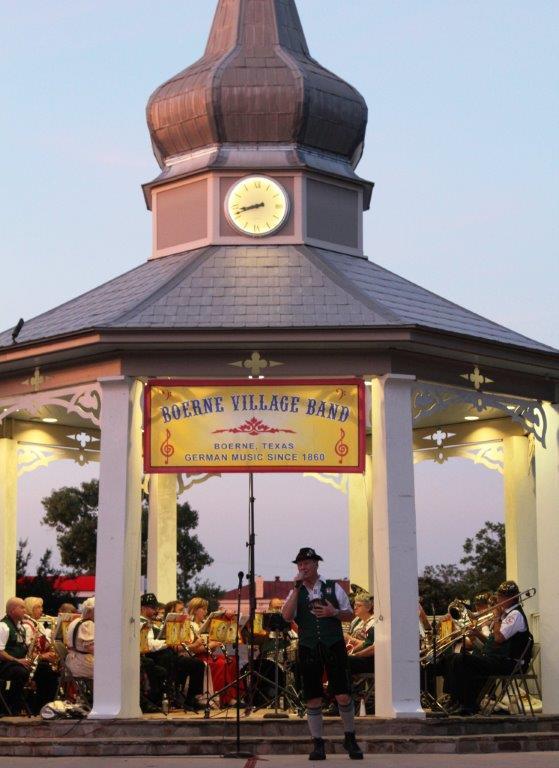 Boerne Village Band playing Abendkonzert