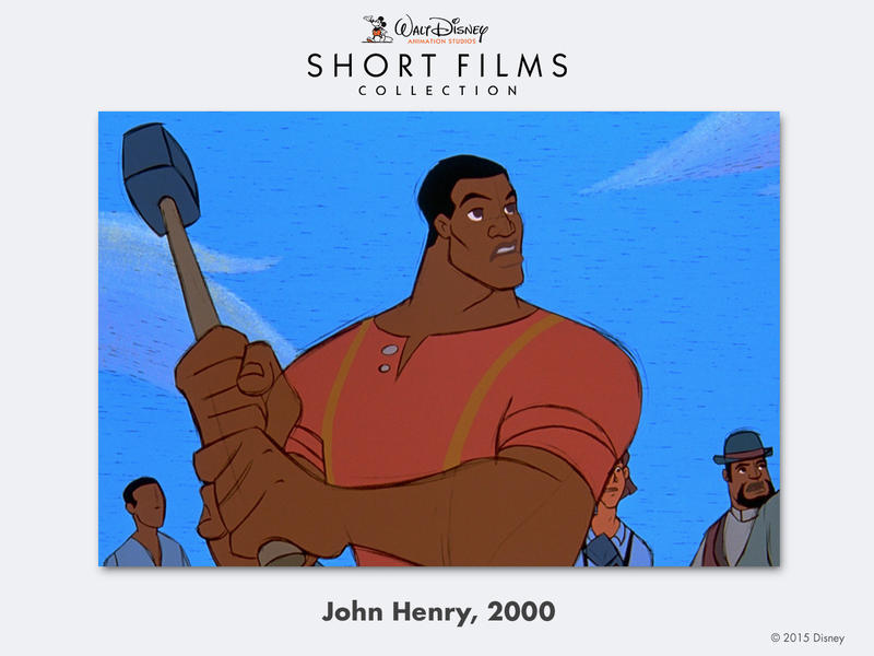 """""""John Henry"""" uses a rough, unfinished look unique to Disney films of the late 1990s/early 2000s."""