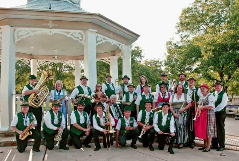 Boerne Village Band at the gazebo