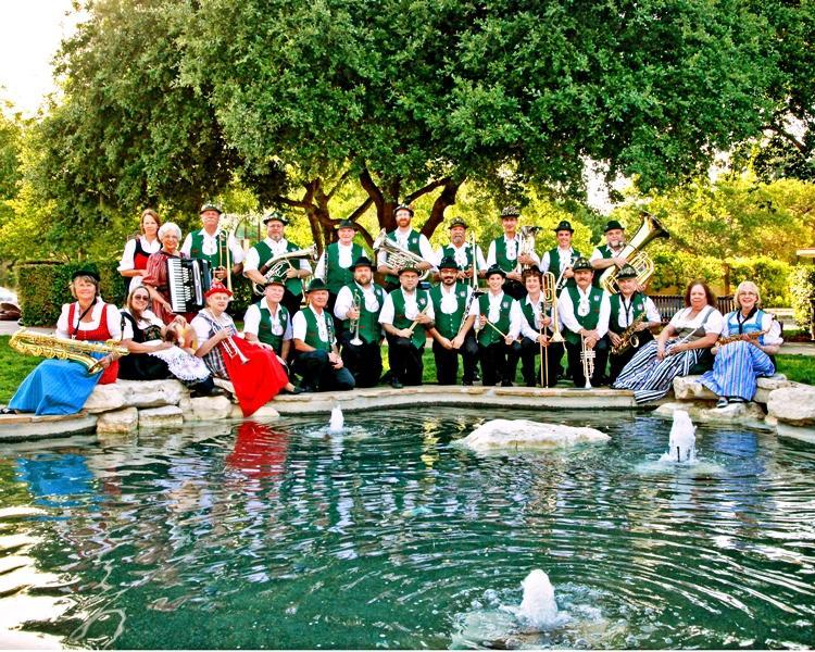 Boerne Village Band at the pond