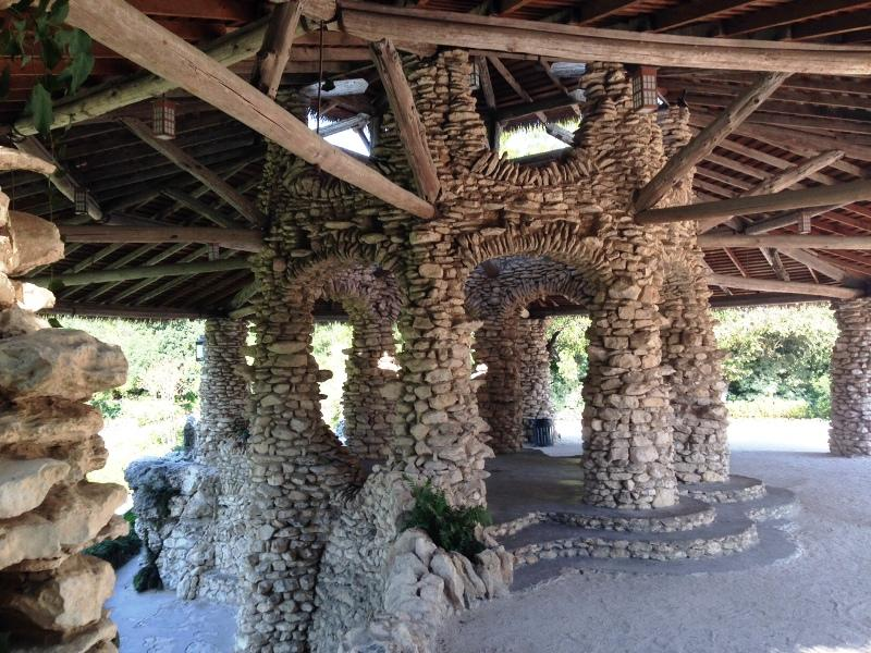 massive support structure beneath pagoda