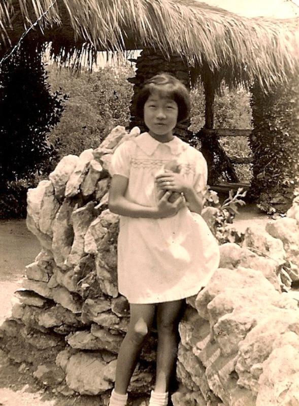 Barb Cabot's aunt, Mabel Jingu holds kitten
