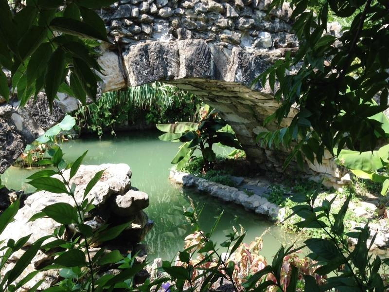 one of several stone bridges