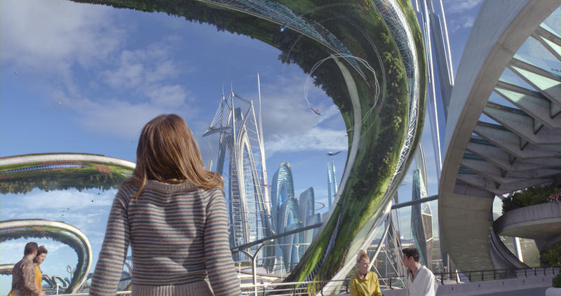 Casey (Britt Robertson) gazes in awe at Tomorrowland.