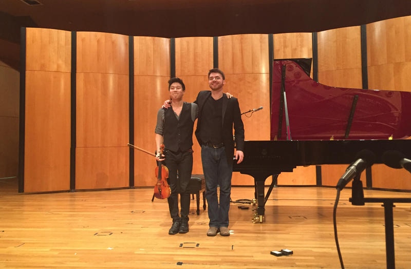 Charles Yang (left) and Peter Dugan (right) take a bow.