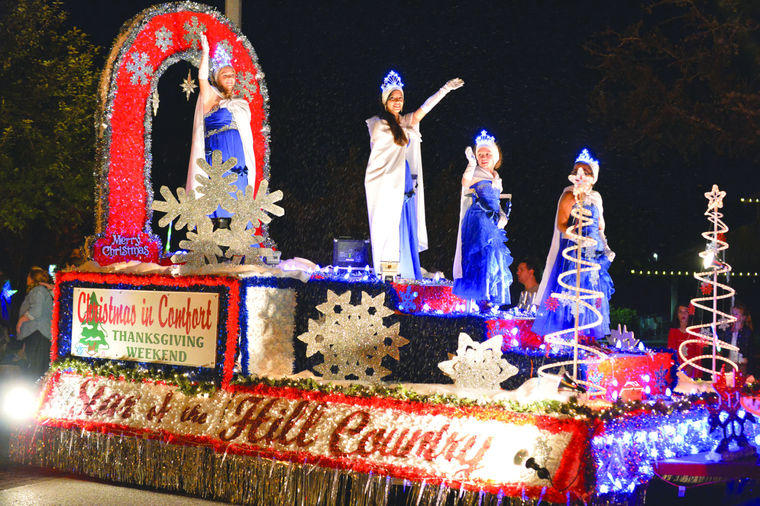 Comfort Court in Kerrville's Holiday Lighted Parade