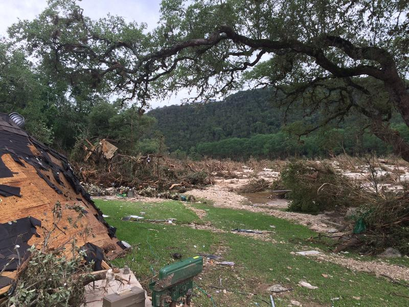 Flooding in Wimberley over Memorial Day Weekend 2015. The raging waters left death and destruction in its wake but the Wimberley Library is working to preserve people's memories in an oral history book due out in the spring.