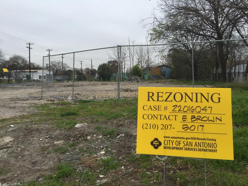 In Lavaca, several small commercial plots have been rezoned to develop new town homes.