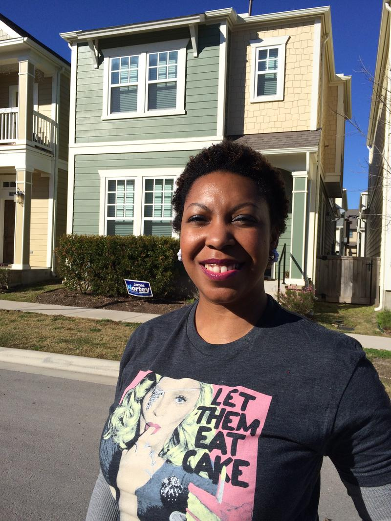 University of Texas at Austin employee Janeka Rector bought a home in the Mueller community through its affordable housing program.