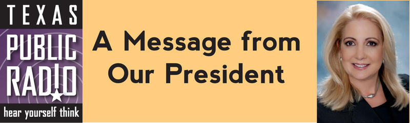 A Message from Our president