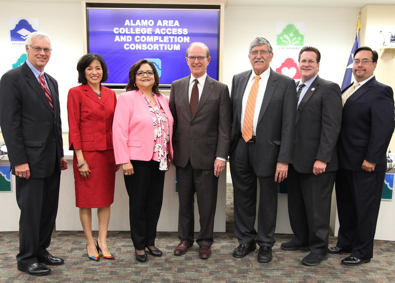 Wednesday's speakers include Alamo Colleges' Chancellor Dr. Bruce Leslie; Dr Adriana Contreras, executive director, San Antonio Education Partnership; Dr. Adelina S. Silva, Alamo Colleges' vice chancellor for student success; Bexar Co. Judge Nelson Wolff.