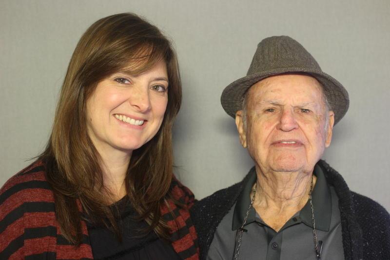 Teresa Diaz and and her friend and neighbor, Edgar Fischel.