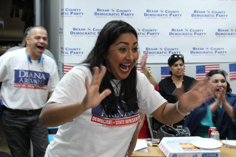 The moment Diana Arevalo jumped to 52 percent for the House District 116 seat tonight. 74 percent of precincts were reported.