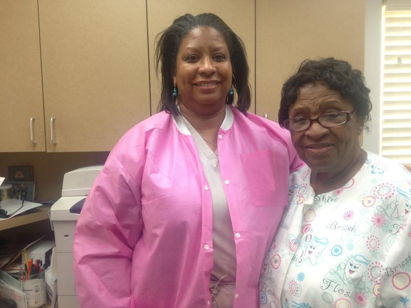 Dentist Cheryl Davis, and her mom Ocia Davis, who is the office manager.