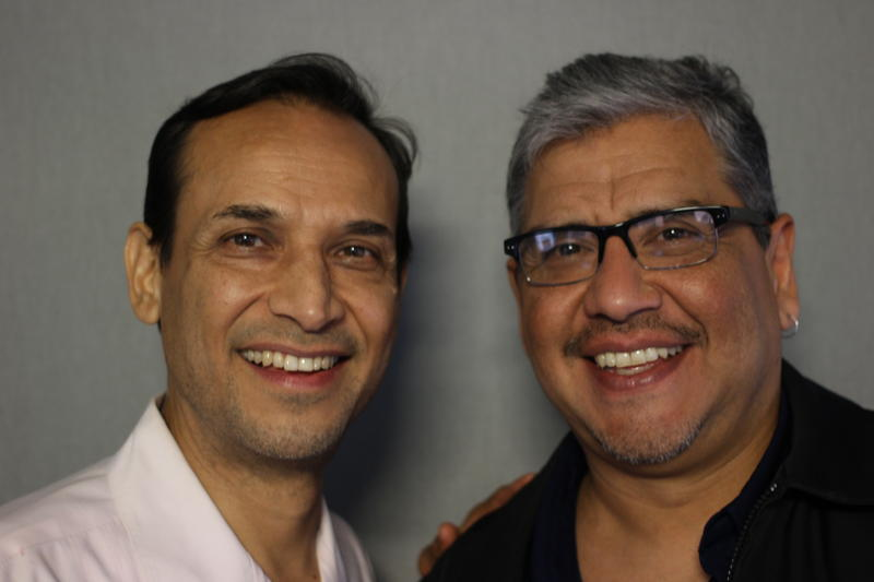 Jesse Borrego (left), with his brother, James.