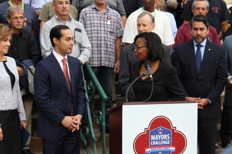 Former San Antonio Mayor Julian Castro, now Secretary of the U.S. Department of Housing and Urban Development joined Mayor Ivy Taylor for the announcement - May 13, 2016