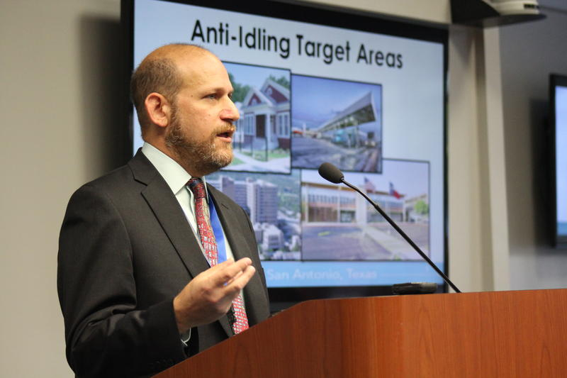Doug Melnick, Chief Sustainability Officer for San Antonio address a committee on the city's comprehensive plan Tuesday.