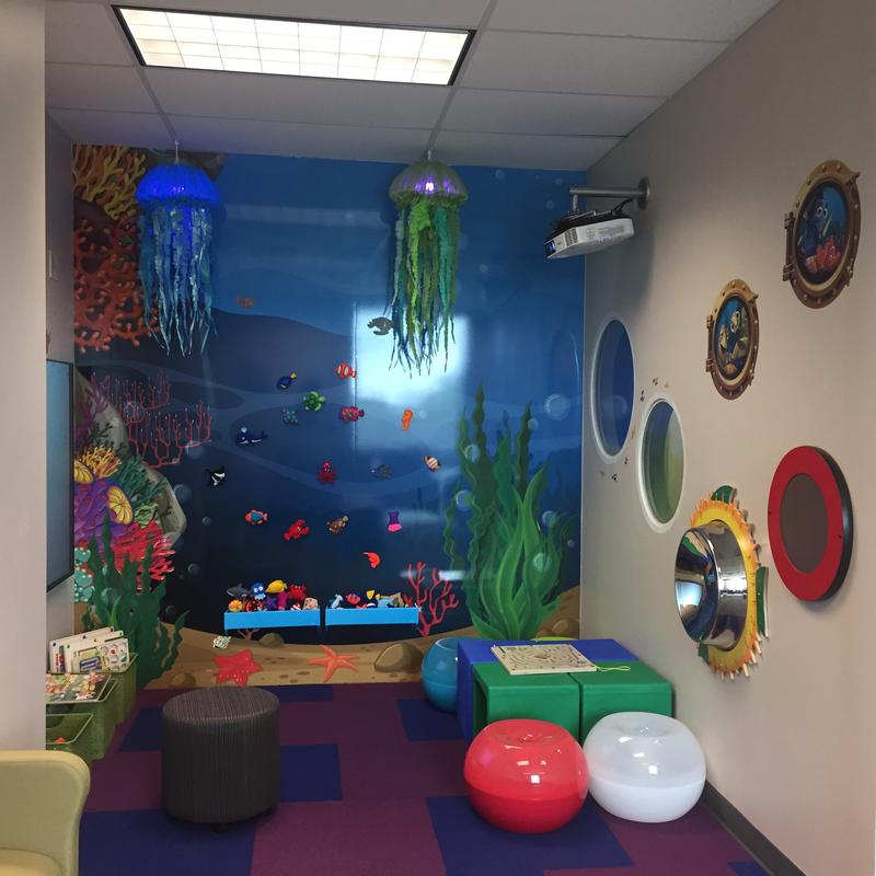The kids' area at the Steven A. Cohen Military Family Clinic at family Endeavors, Inc.