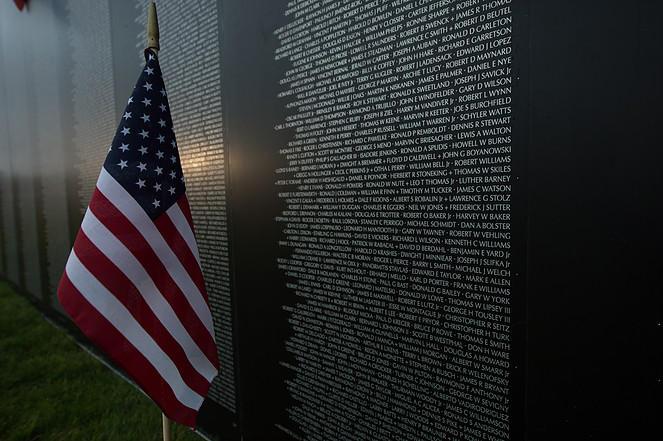 Replica of the Vietnam Memorial.