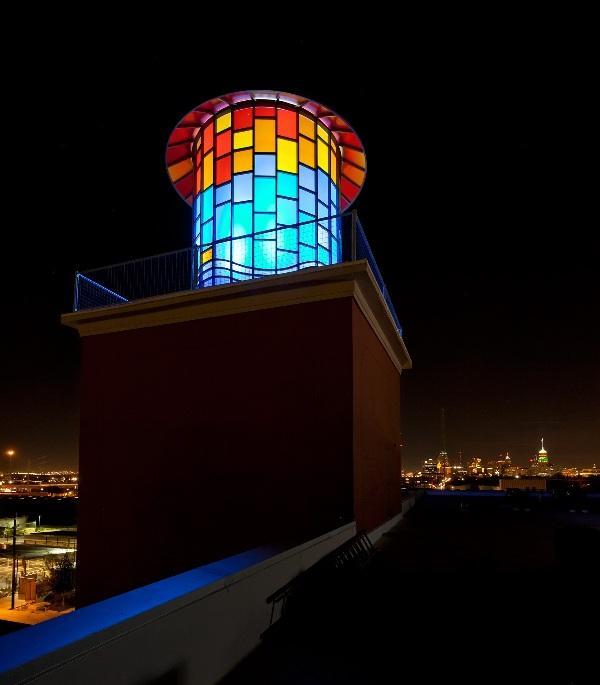 Water Tank at night