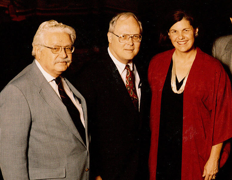 L to R: Founding KPAC members Wilford Stapp, J.C. Stromberger, Sally Buchanan