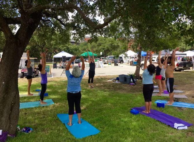 Trinity Market yoga class