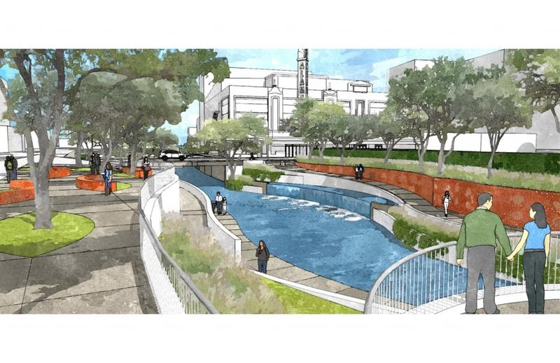 San Pedro Creek design plan (Travis Street)
