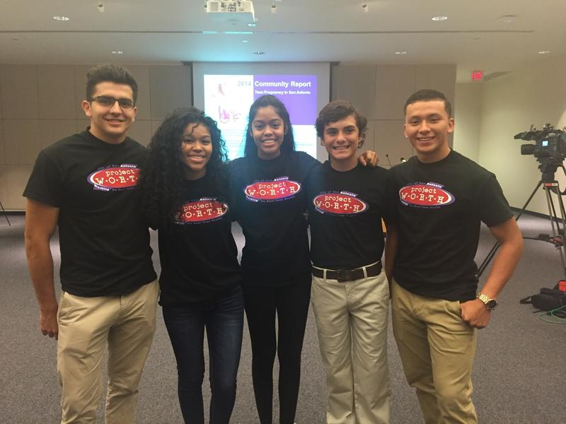 Teens in Project Worth act as mentors for their peers.