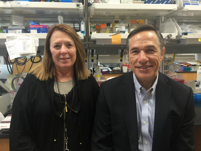 Jean L. Patterson, Ph.D. and Luis Giavedoni, Ph.D., are two of the scientists working on lab animal models for Zika.