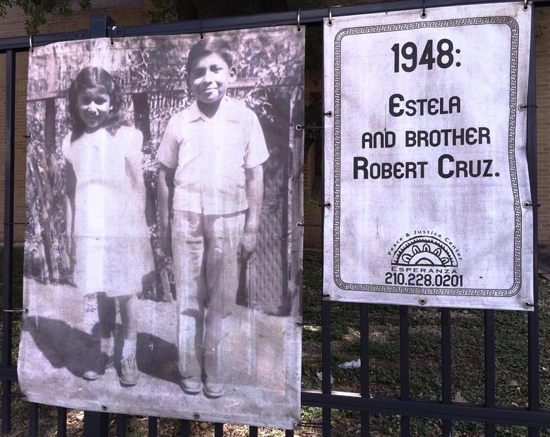 Estela and her brother Robert Cruz