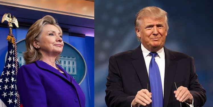 Democratic Presidential nominee Hillary Rodham Clinton and Republican Presidential nomineeDonald Trump