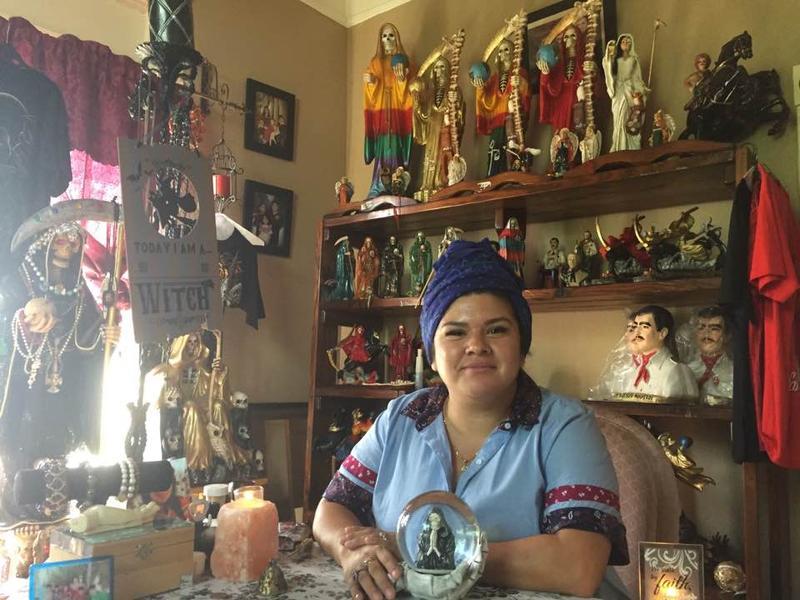 Brujita Ana Maya at her home in San Antonio