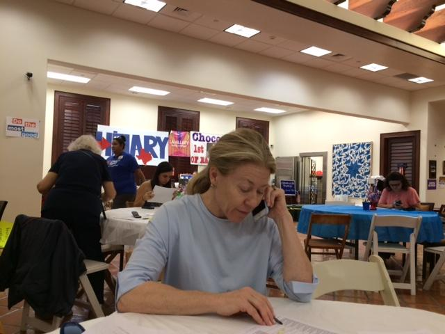 Phone bank volunteers this weekend urged those who haven't voted to turn out Tuesday.  At this phone bank Democrats called on behalf of Hillary Clinton and Pete Gallego.