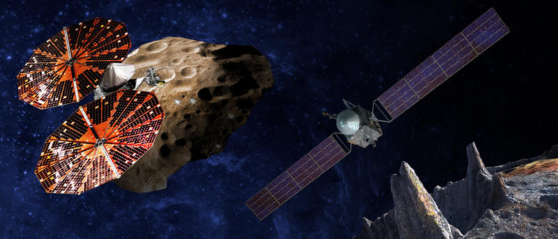 Artist conception of Lucy Spacecraft