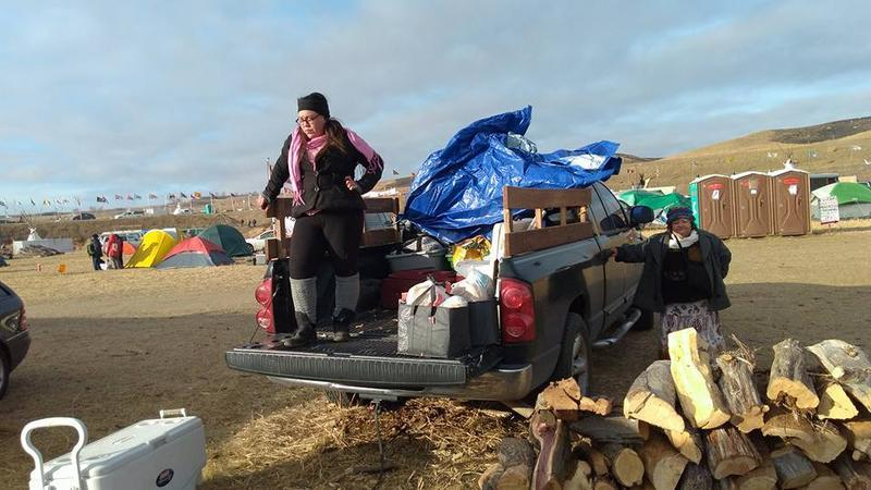 Mayahuel Garza at Oceti Sakowin, a camp of water protectors in North Dakota