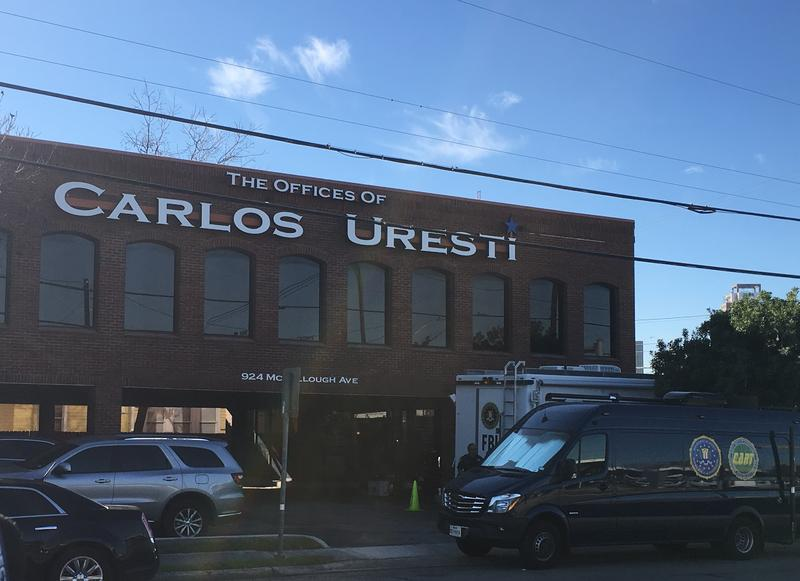The FBI arrived at the Law Offices of State Sen. Carlos Uresti at about 8 a.m. according to the Express-News, where they began conducting a raid.