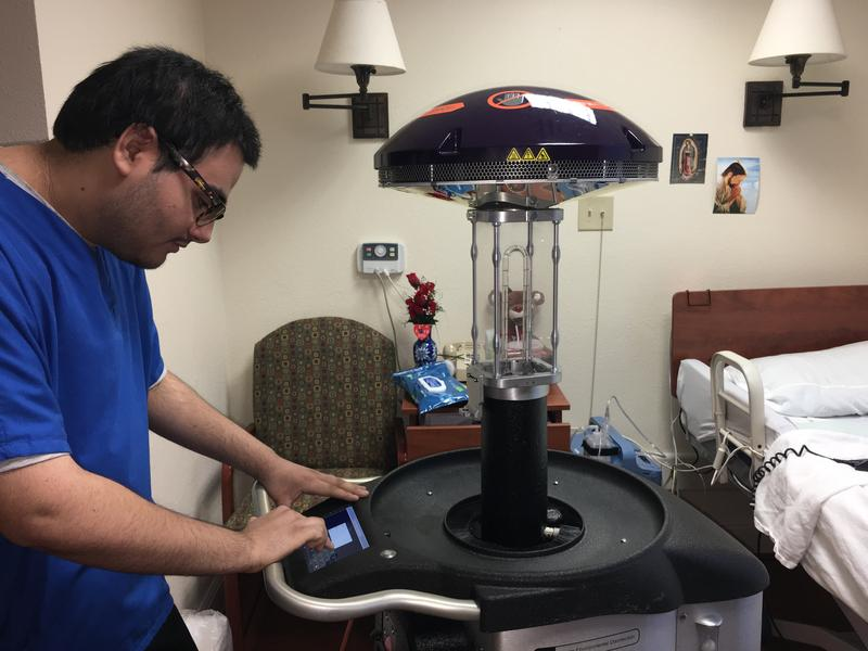 At Morningside Ministries, Xenex germ-zapping robots are used to clean residents' rooms.