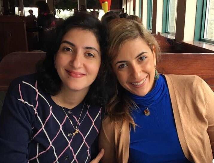 Above: Sara Yarjani (right) with sister Salma Yarjani (left).