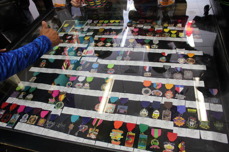 The Fiesta Store - which is run by the Fiesta Commission - holds between 90-120 different medals available for purchase. It sells about 17,000 medals each year.