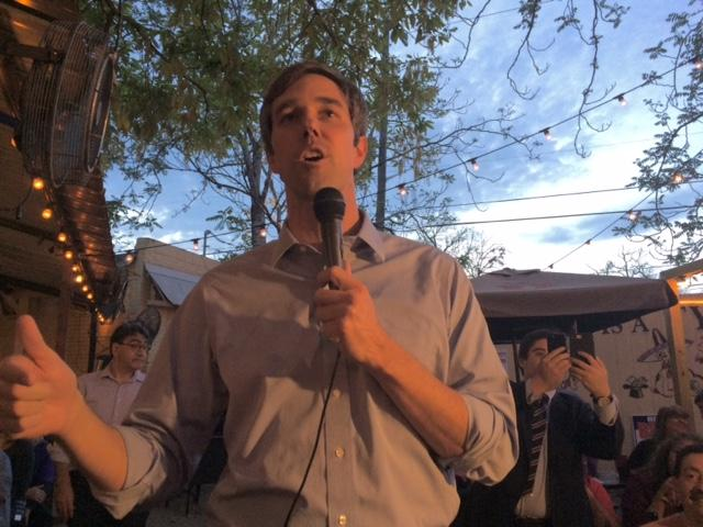 Rep. Beto O'Rourke, an El Paso Democrat, held a rally Saturday in San Antonio as he weighed a race for the U.S. Senate.
