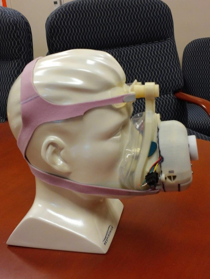 UTSA engineers are working on a miniaturized CPAP that is self-contained within the mask and weighs only 8 ounces.