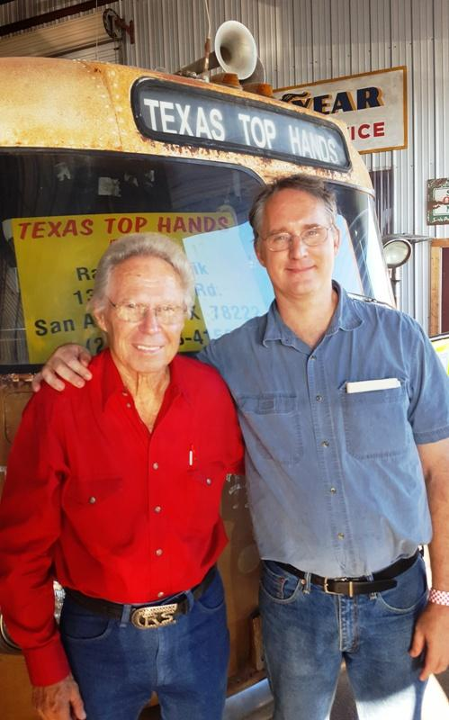 Brian Petkovich at right, with Ray Sczepanik,  a member of the Texas Top Hands