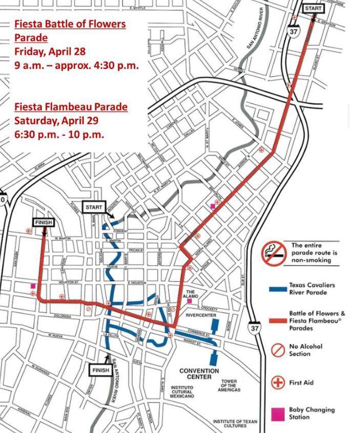 Fiesta Parade Street Closures Texas Public Radio