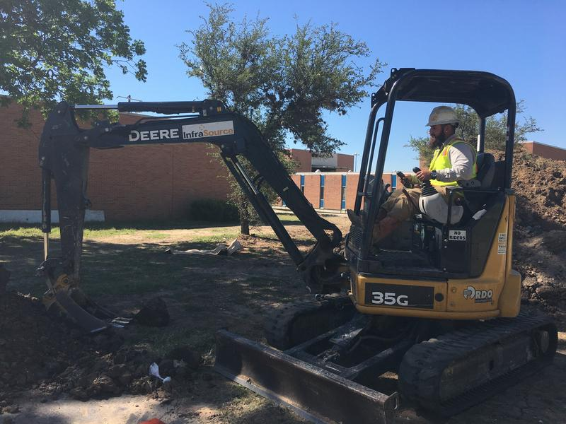 Work crews are transforming four old aerospace medicine buildings at Brooks City-Base into the new UIW School of Osteopathic Medicine.