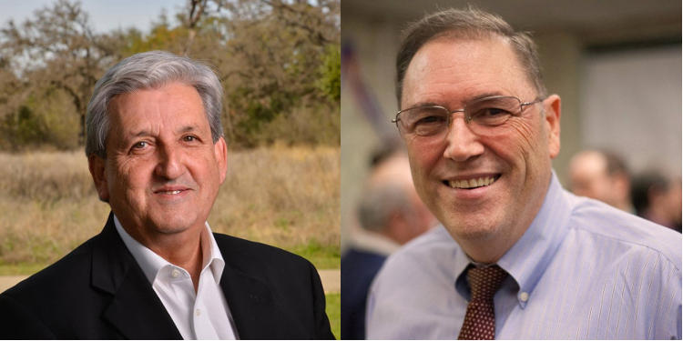 Marco Barros (L) and John Courage (R) are the candidates for San Antonio's District 9 runoff election.