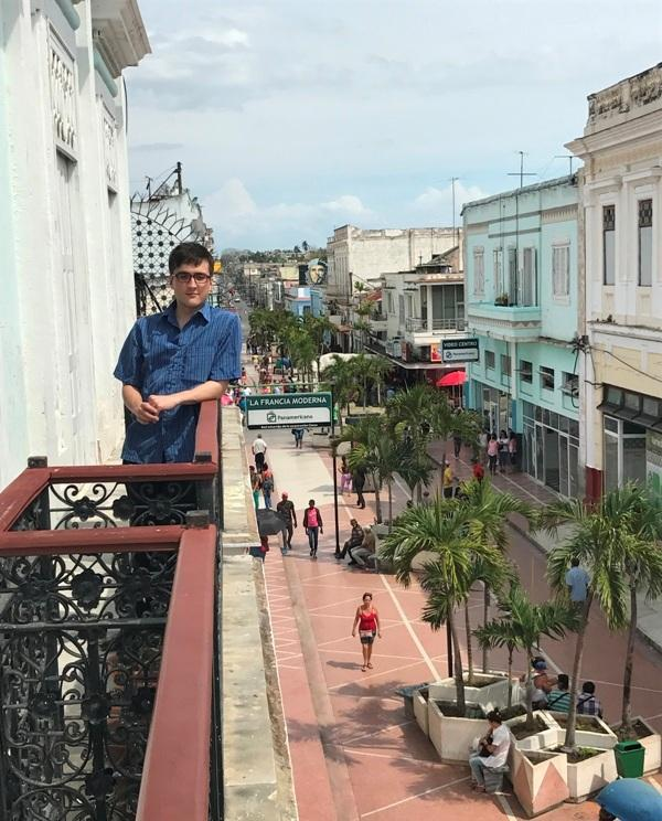 Dan Schumacher overlooking pedestrian mall