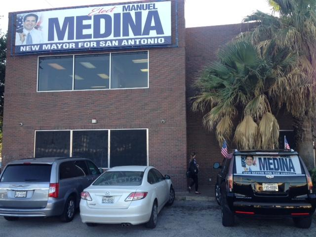 Medina For Mayor Campaign Headquarters which is also the Bexar County Democratic Party Headquarters
